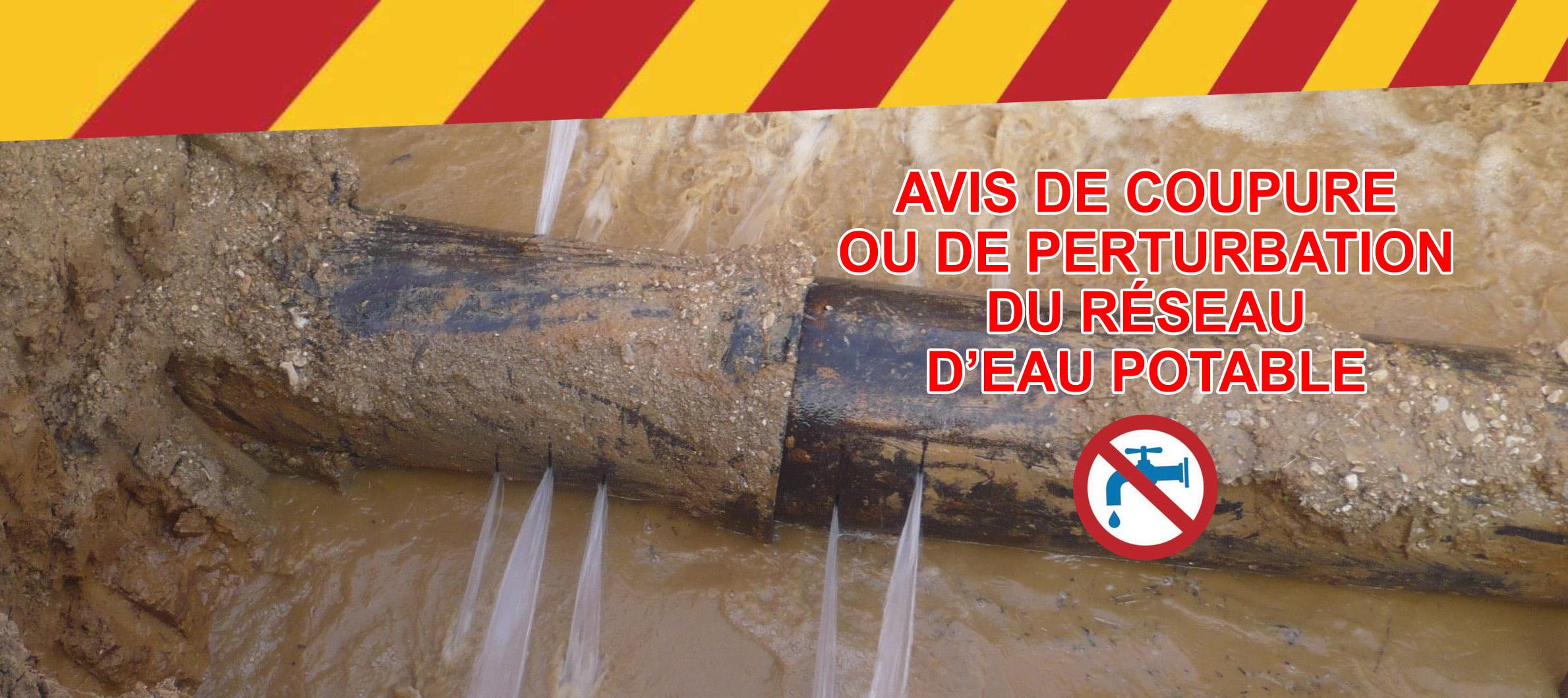 ❌ Distribution de l'eau perturbéeà Raulhac le 02/08/21